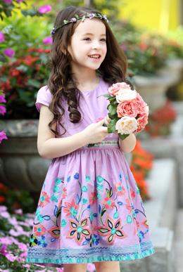 新款童装女童绣花裙儿童公主裙大童裙子