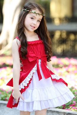 新款公主裙儿童裙子蕾丝礼服裙